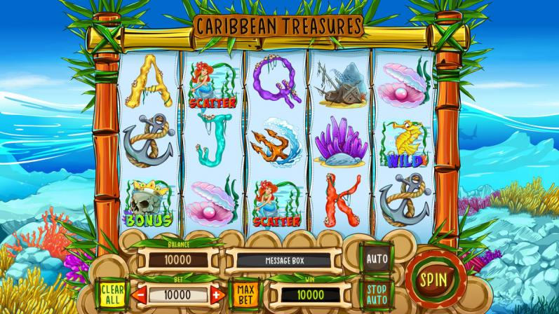 "Online slot machine for SALE – ""Caribbean Treasures"""