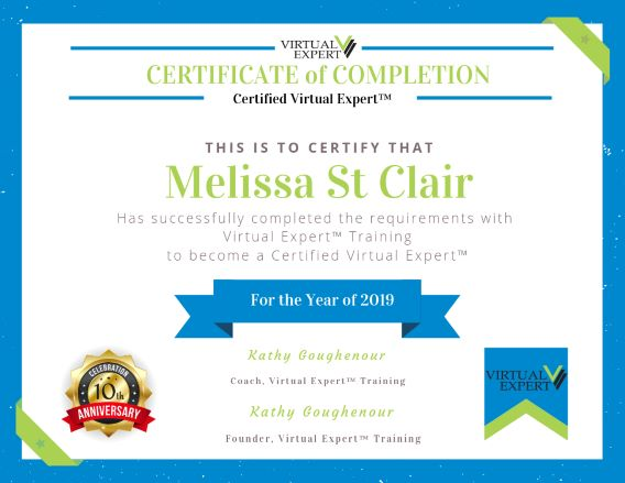 Melissa St. Clair | Certified Virtual Expert™