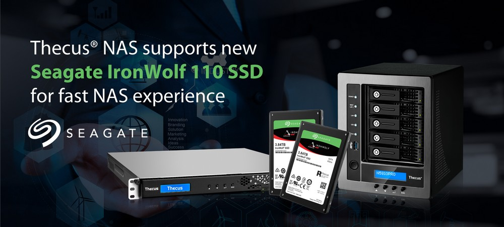 Thecus supports new Seagate IronWolf 110 SSD