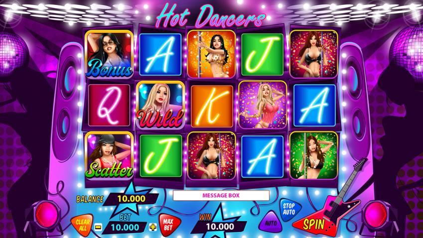"""Game design for online casino slot """"Hot Dancers"""""""