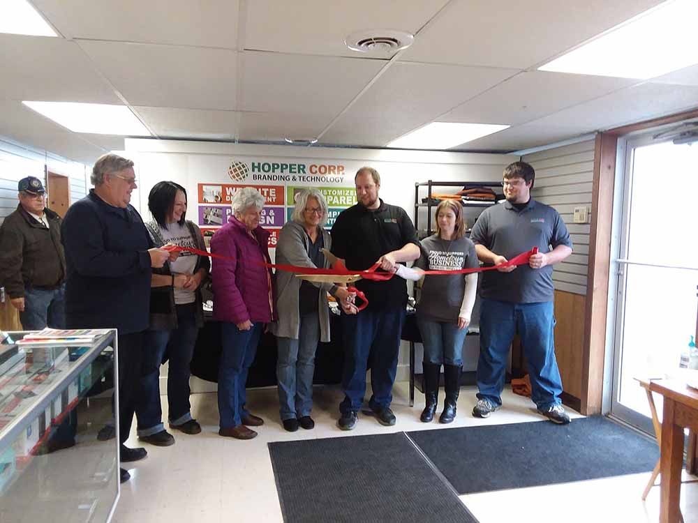 Family and Team Ribbon Cutting