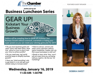 Debbra speaks Newport Chamber 2019
