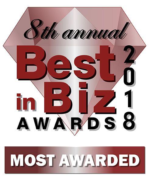 2018 Best in Biz Top 5 Most Awarded