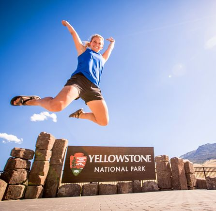 Kasey Austin loves Yellowstone NP