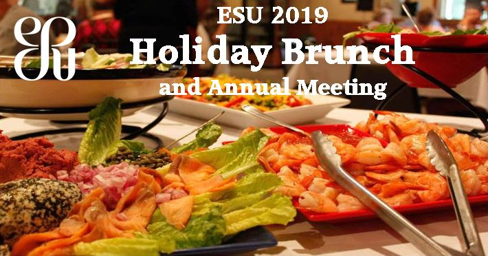 ESU Lecture Program and Brunch January 20, 2019 at 12 Noon