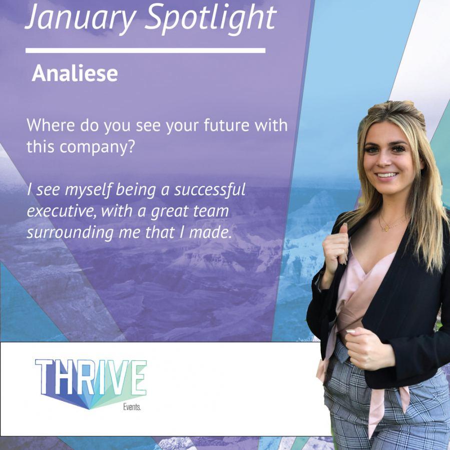 Spotlight Analiese Thrive Events Inc Spotlight Review