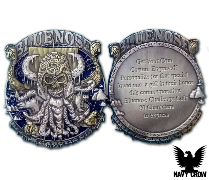 Blue Nose Custom US Navy Coin