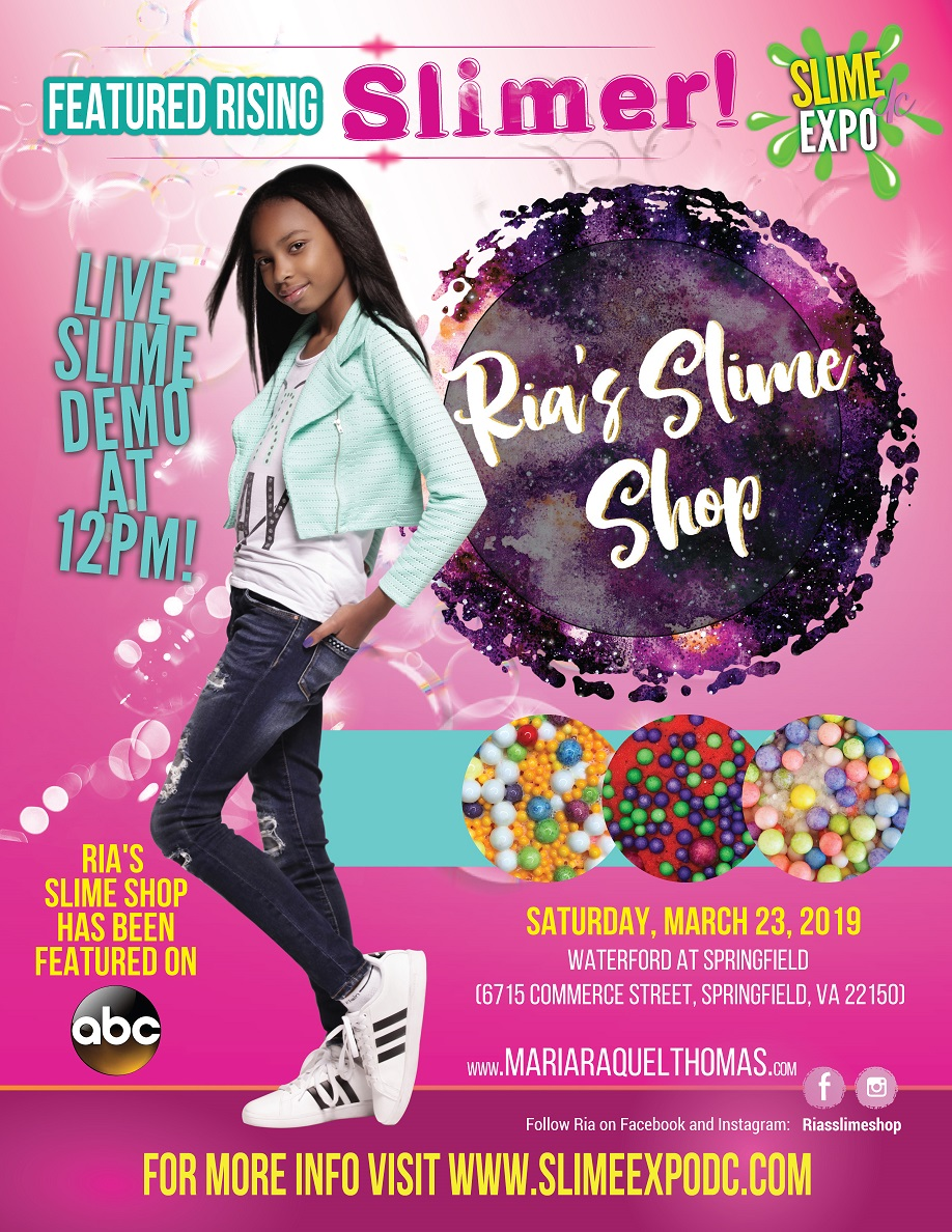 Ria's Slime Shop will be featured at Slime Expo DC