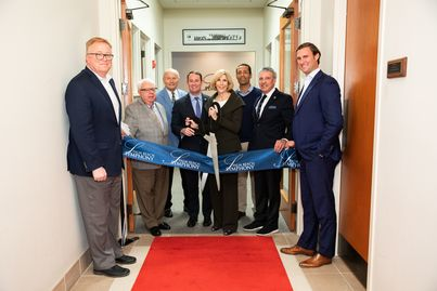 David McClymont, Mayor Muoio and VIP Guests - Palm Beach Symphony Ribbon Cutting