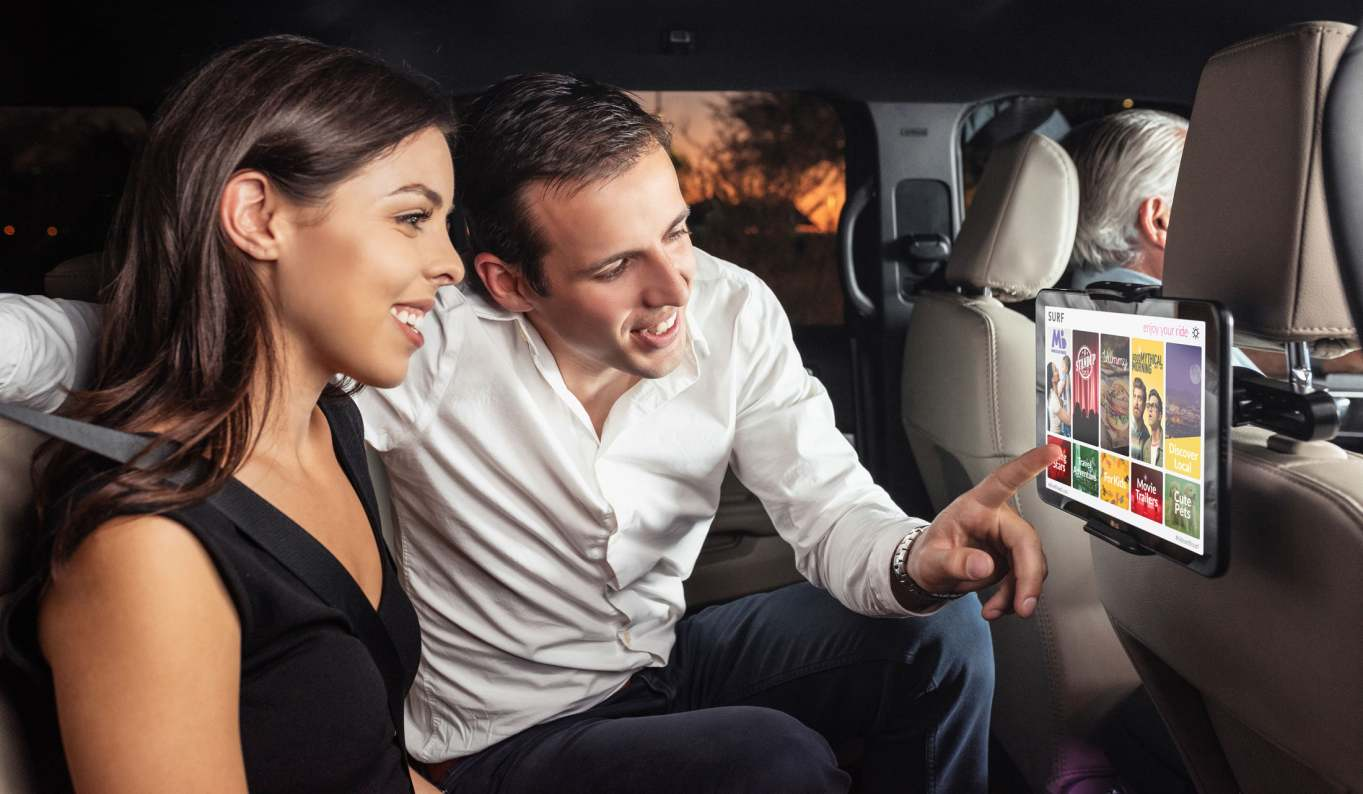 Surf tablets will now be available in San Antonio rideshare cars.