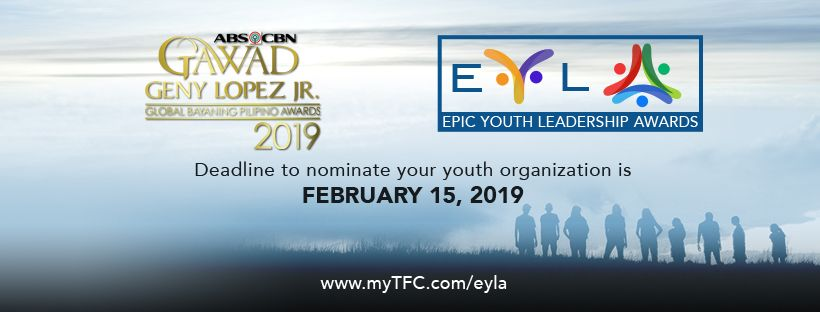 EYLA's deadline for submission of entries is on February 15, 2019