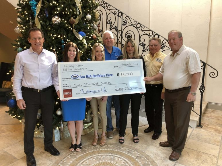 Aubuchon Team of Companies presents $12,000 to Lee BIA Builders Care