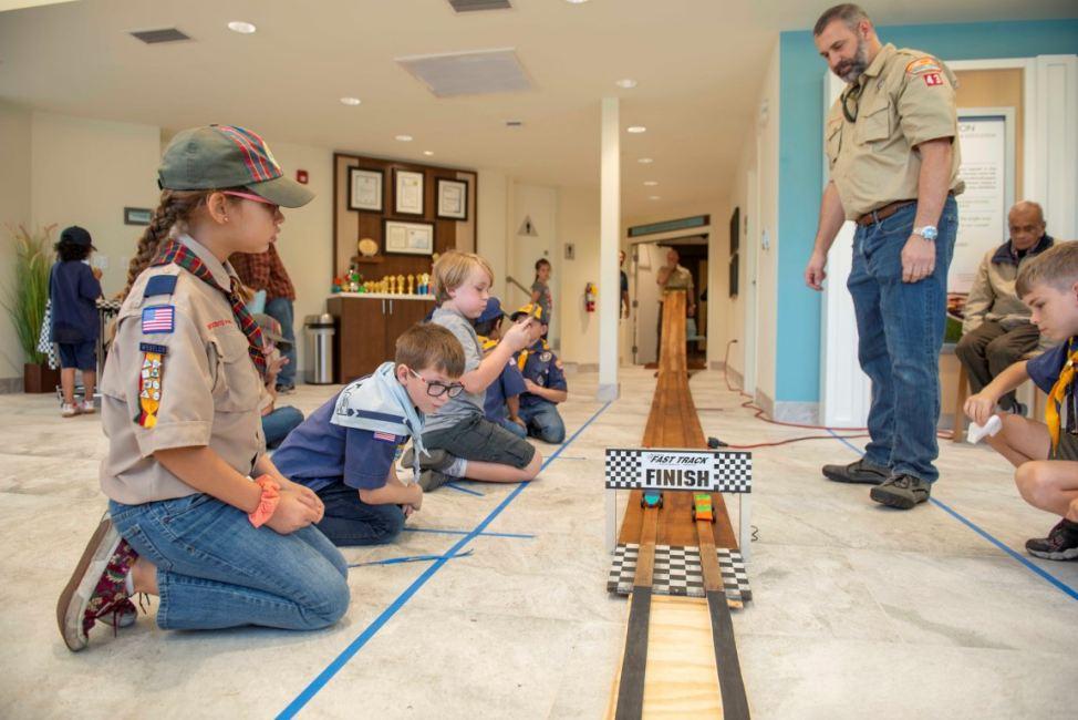Cub Scouts in CCV Center