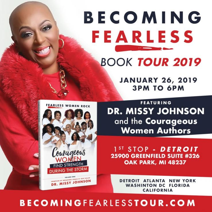 Dr. Missy Johnson, Becoming Fearless Tour 2019