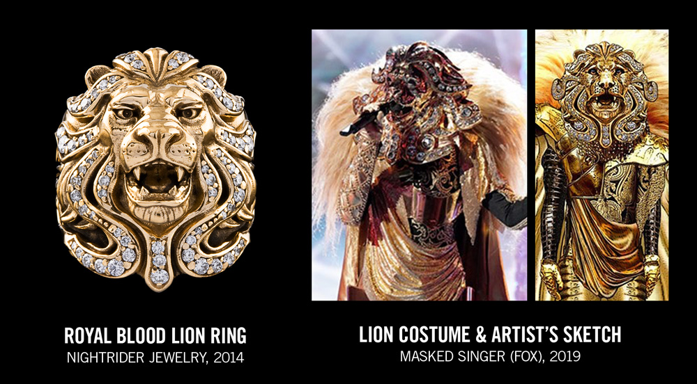 Royal Blood Lion Ring VS Masked Singer Lion Mask
