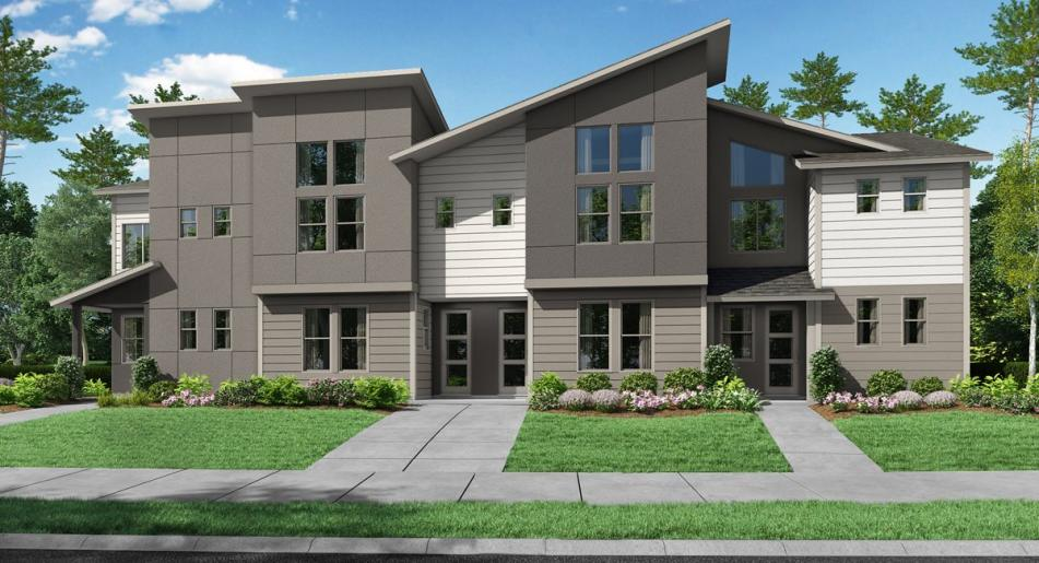New upscale townhomes for sale in Hillsboro & set within a mixed-use masterplan