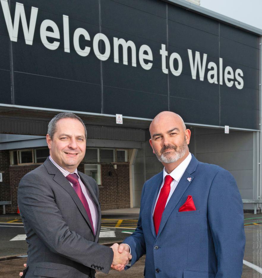 L-R Spencer Birns, Commercial Director, Cardiff Airport, Gordon Bingham