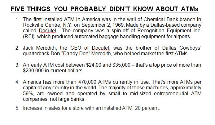 5 Things You Probably Didn't Know About ATMs