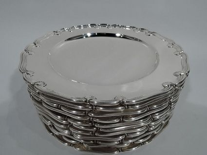 antique sterling silver tiffany appetizer plates