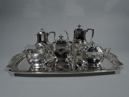 antique sterling silver tiffant coffee and tea set