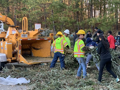 6K Live Christmas Trees Become Mulch During Bring One for the Chipper 2019