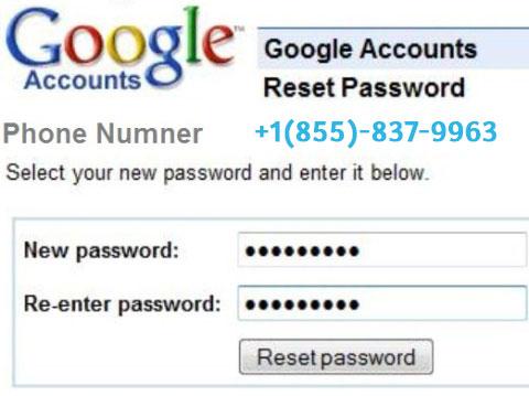 gmail password reset number