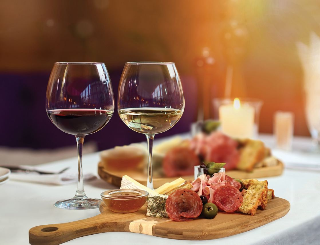 Norman Love Confections-Wine and Charcuterie Tray