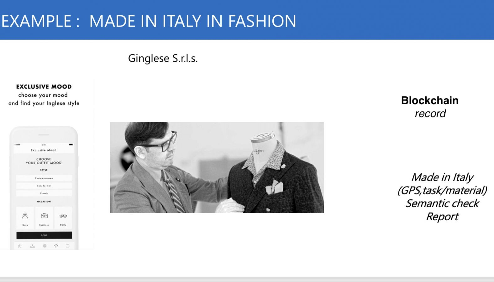 GInglese blockchain for Made in Italy in fashion
