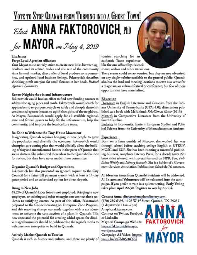 Handout - Mayor Campaign - 2019 - Small