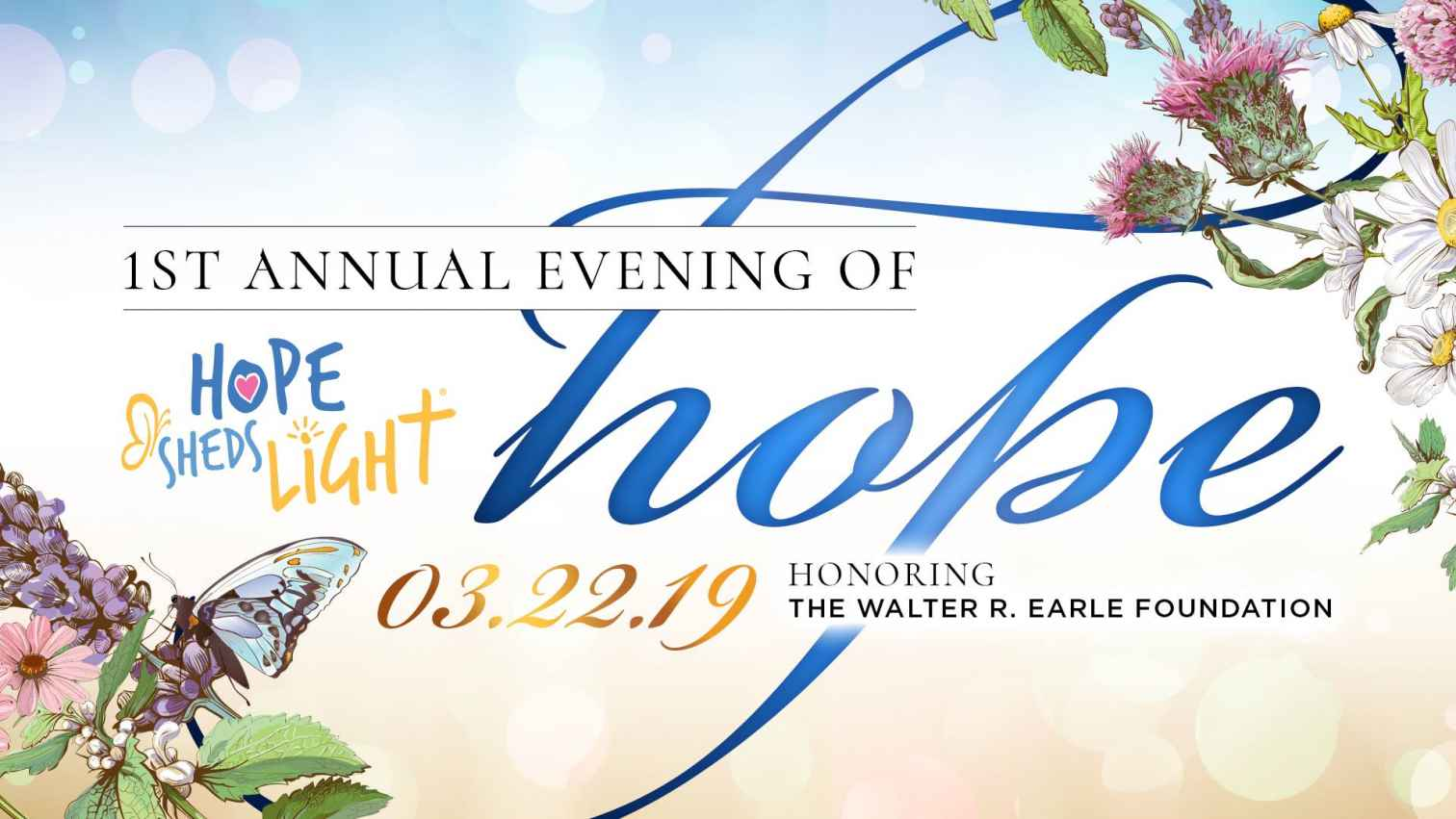 The 1st Annual Evening of HOPE will be held on March 22 at The Asbury Hotel.