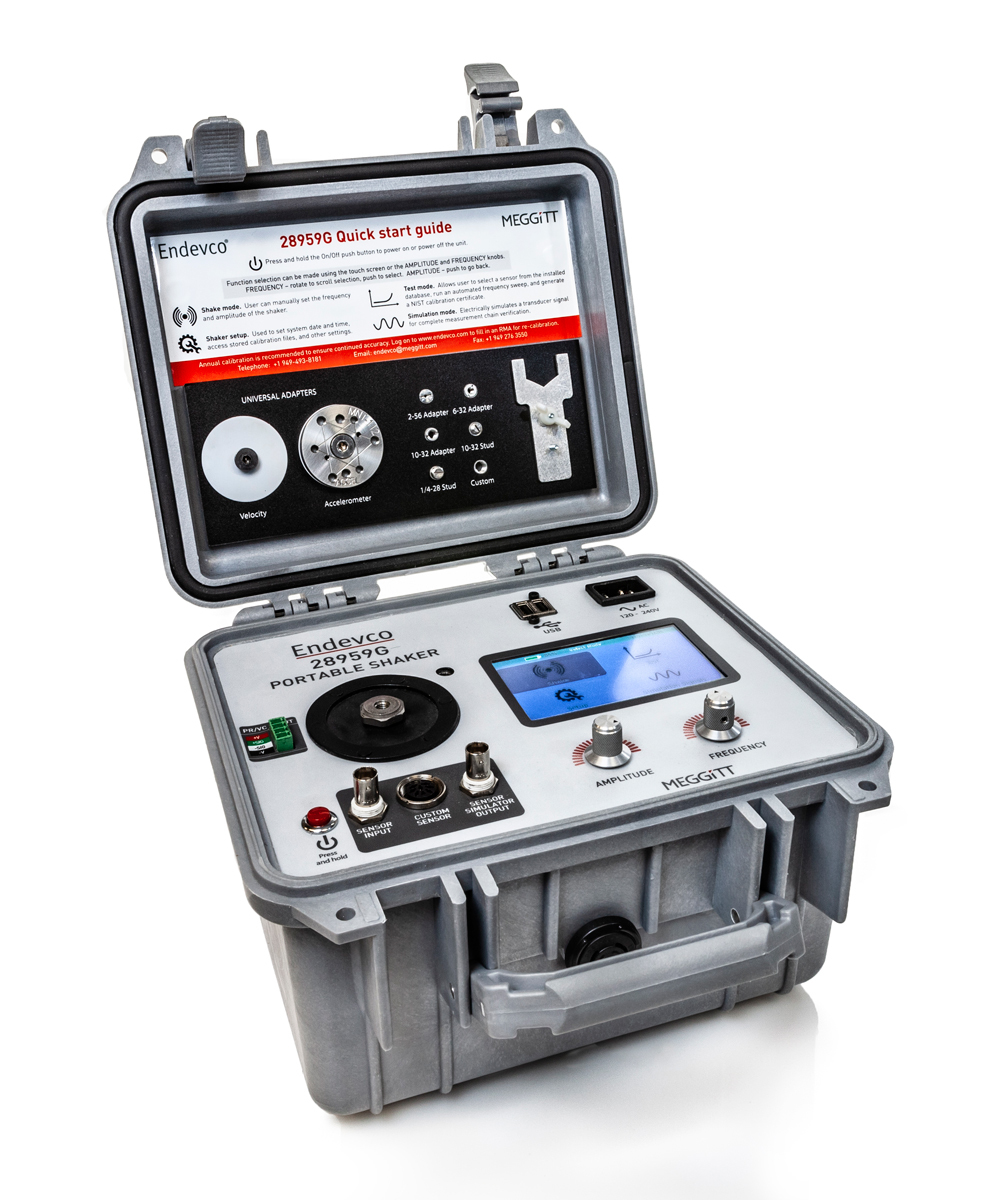 Model 28959G portable vibration calibrator