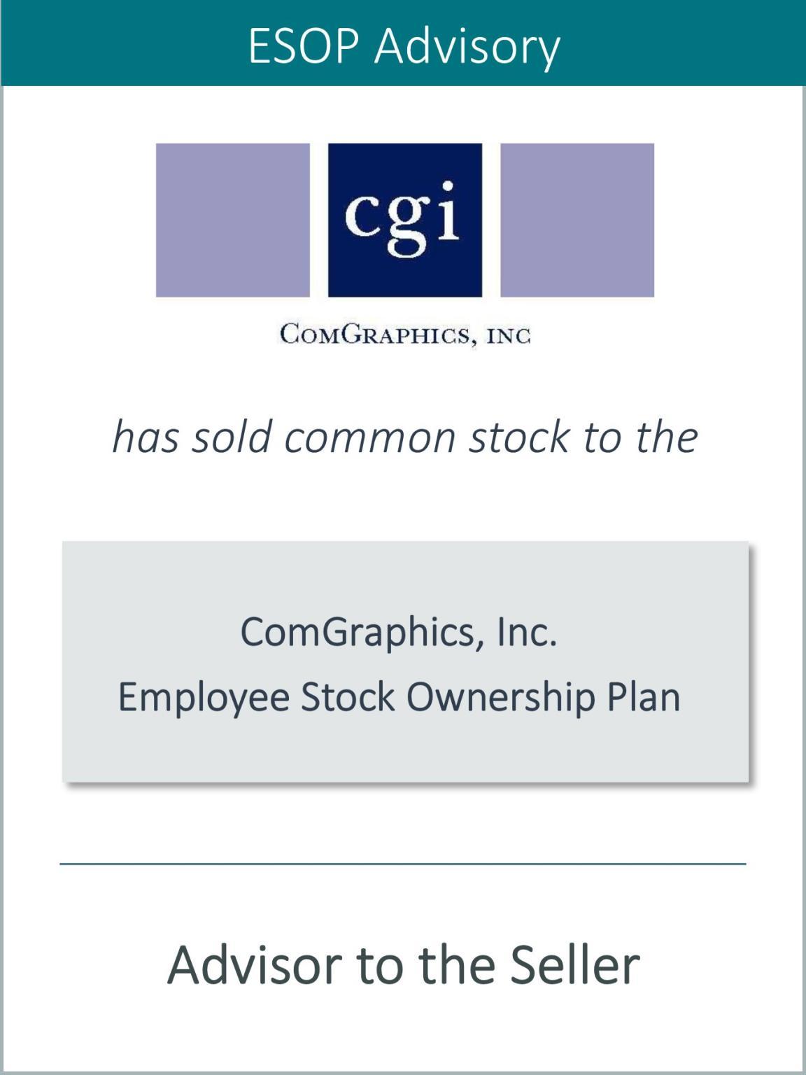 ComGraphics establishes Employee Stock Ownership Plan