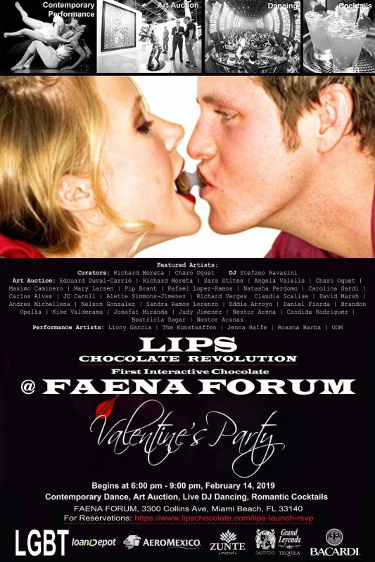 LIPS© Chocolate Launch Event at Faena Art Forum
