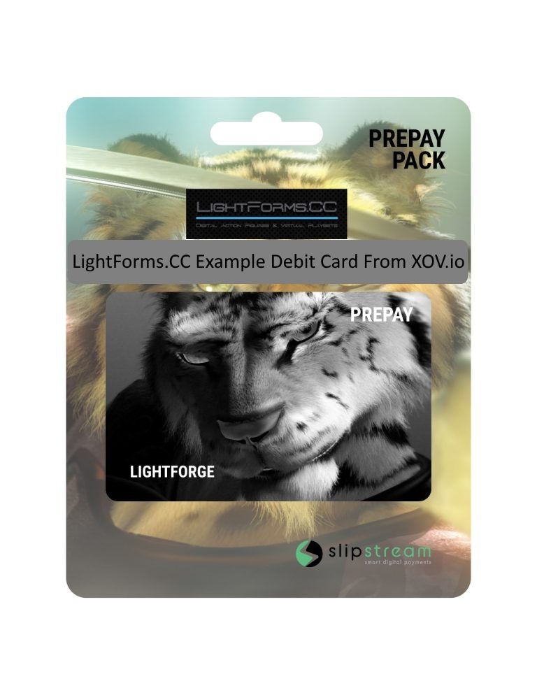 LightForms.CC Example Debit Card from XOV.io