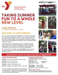 Camp Robbins Flyer 2019 NY