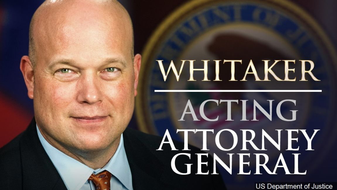 Official Photo of Matthew Whitaker, acting U.S. Attorney General