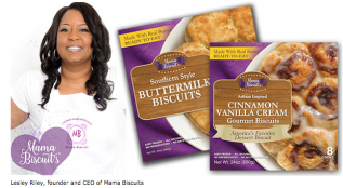 Lesley Riley, founder and CEO of Mama Biscuit