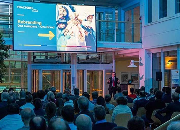 Rebranding Ceremony with the employees of Tractebel Engineering GmbH.