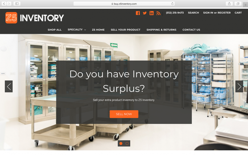 cheaper 582d7 80ab9 Z5Inventory.com allows healthcare providers to sell   buy medical supplies.