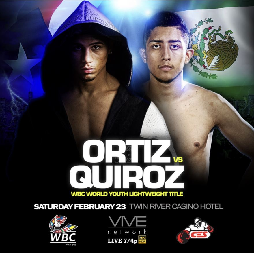 Ortiz vs. Quiroz LIVE in UHD HDR Exclusively on VIVE February 23 at 7PM EST