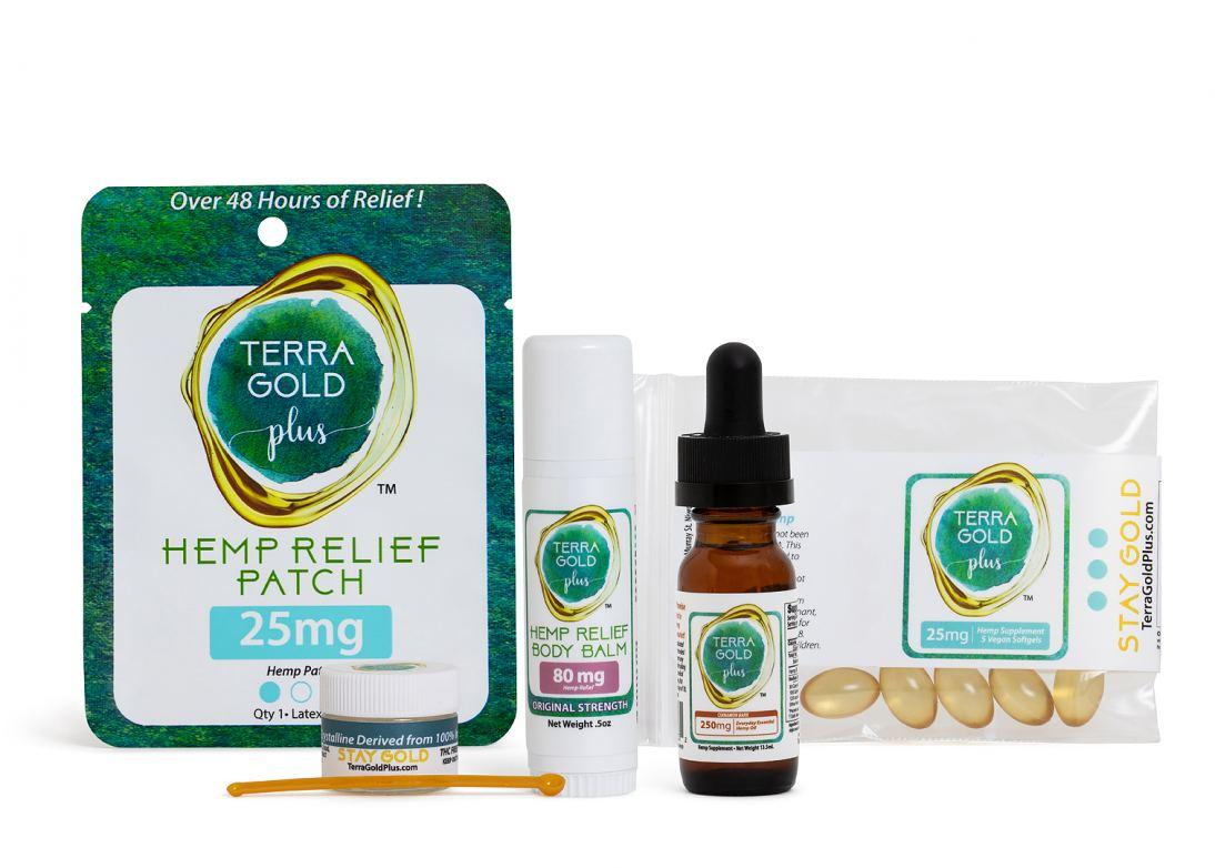 TerraGold Plus CBD Starter and Wellness kits