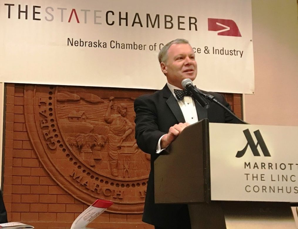 Todd Foje at Nebraska Chamber's Annual Meeting