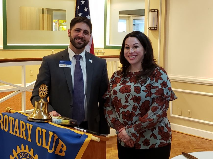 Acts 4 Ministry Executive Director (r) With President of Tribury Rotary Club