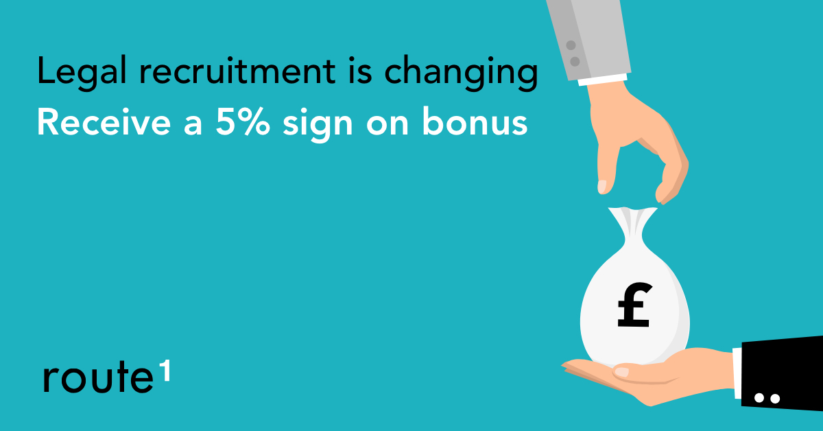 Route1 introduces 5% sign on bonus for candidates