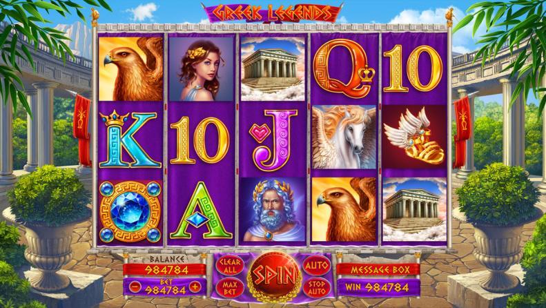 """Game design for casino online slot """"Greek Legends"""""""