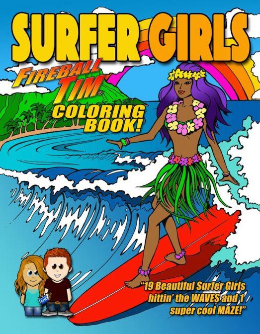 Fireball SURFER GIRLS Coloring Book