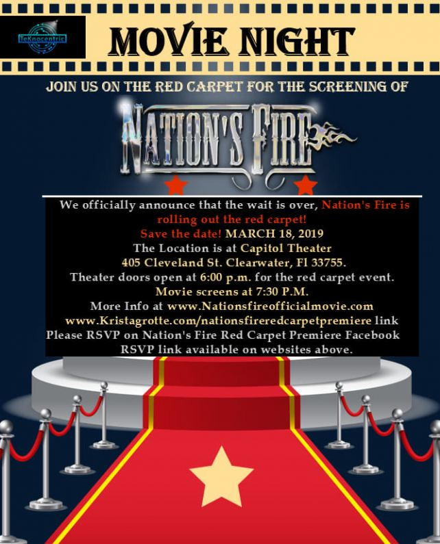 """""""Nation's Fire"""" Cast/Crew Screening March 18, 2019 Clearwater, Florida"""