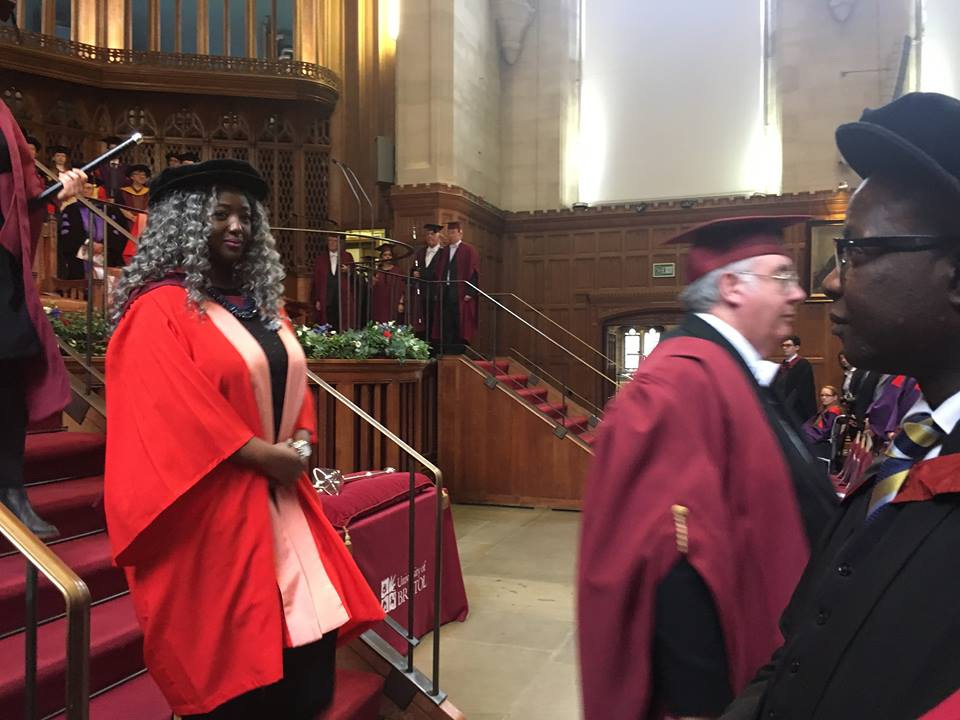 Dr Imafidon MBE at the graduation ceremony