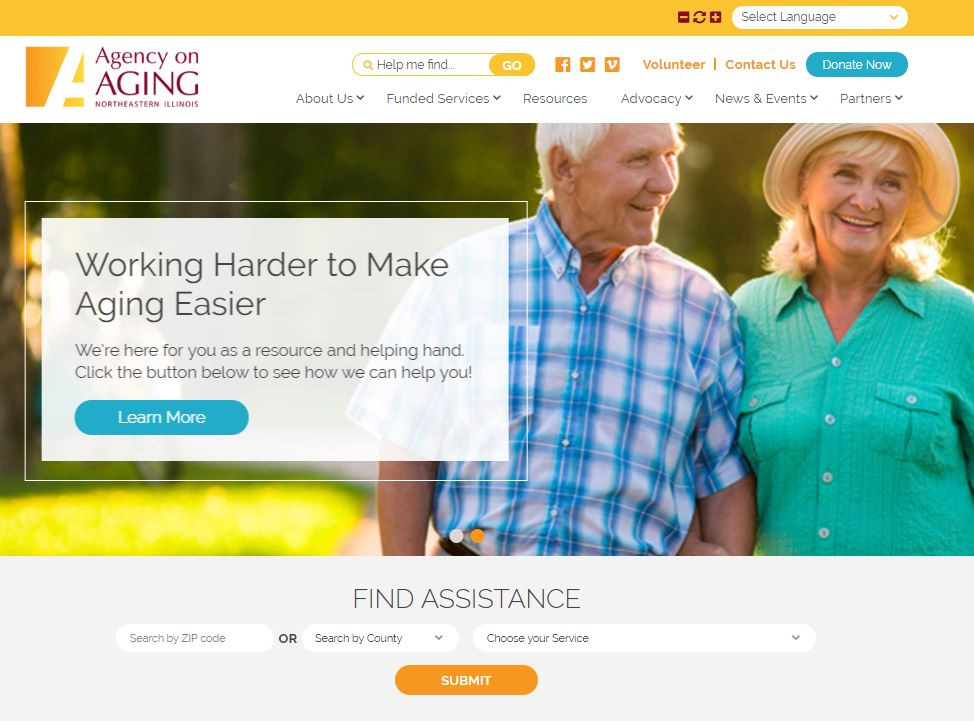 New Website for the Agency on Aging Northeastern Illinois