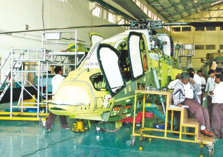 12 A Light Combat Helicopter prototype being produced at HAL.
